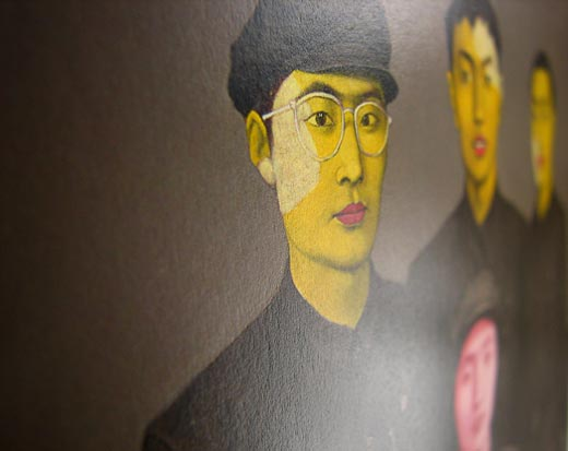 Zhang Xiaogang, Bloodline Series - Mother with Three Sons (The Family Portrait), 1993, olje na platno, 149 x 180 cm